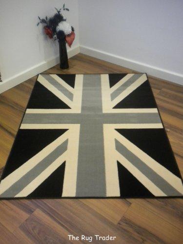 union jack rug black - 1