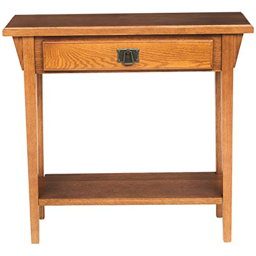 Phoenix Home Pavlo Mission-Style Wooden Console Table with Drawer and Shelf, Amber Oak - Mission Style Console Table