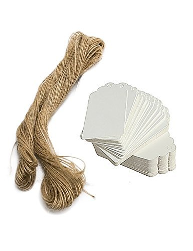 (Paper Tags Gift Hang Tags with String 200pcs White)