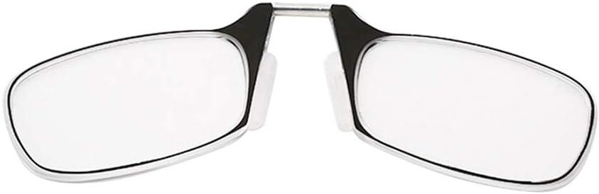 cadre noir//bleu SMTHOME Lunettes de lecture nez pince mini pliable unisexe 1.0//1.5//2.0//2.5//3.0 Lunettes de lecture de poche porte-cl/és