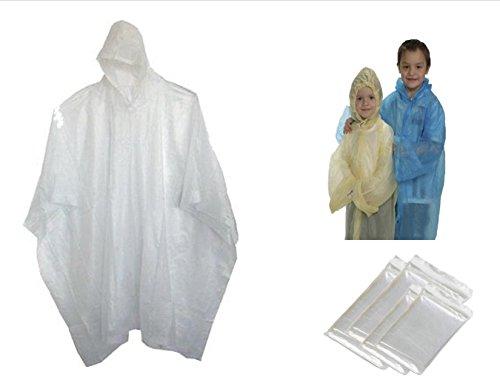 "5 Readi USA Clear Child Size Emergency Kids Rain Poncho - Disposable 40"" x 60"""