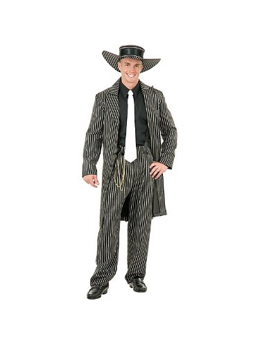 Zoot Suit Costume - Medium - Chest Size (Gold Zoot Suit Chain)