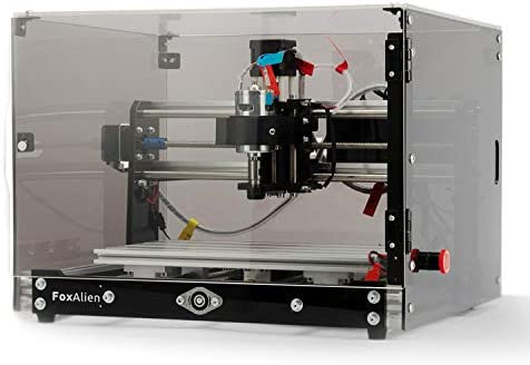Desktop CNC Router Machine 3018-SE V2 with Transparent Enclosure, 3-Axis Engraving Milling Machine for Wood Acrylic Plastics Metal Resin Carving Arts and crafts DIY Design