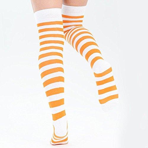 Adam Montantes Femme Weiß amp; Chaussettes Eesa Orange rB64rnC