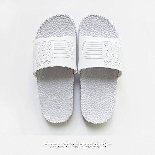 fresco claro4 parejas Home baño baño DogHaccd zapatillas antideslizante Púrpura inferior Zapatillas verano suave macho interior pantuflas HR4xwUaq
