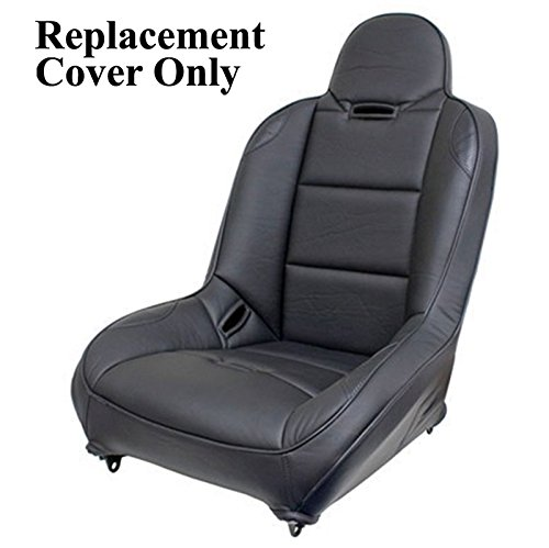 Back Suspension Seat - Empi 62-2777-7 Race Trim Suspension Hi-Back Seat Cover Only, Black Vinyl/Carbon