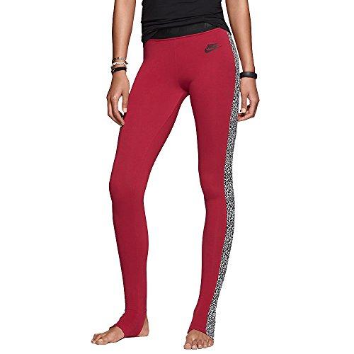 Nike Women's Leg A See Stirrup Printed Leggings-Ruby-Small