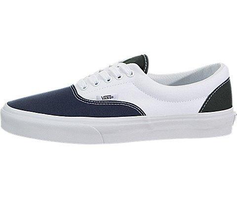 752f5232ff Vans Unisex Era (2-Tone) Dress Blues Scarab True White Sneakers - 10 ...