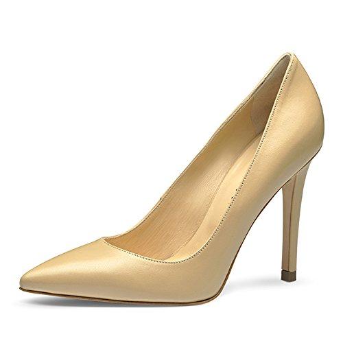 Hellbeige vestir Beige Evita de Zapatos para Piel mujer Shoes de 6qw1Rz