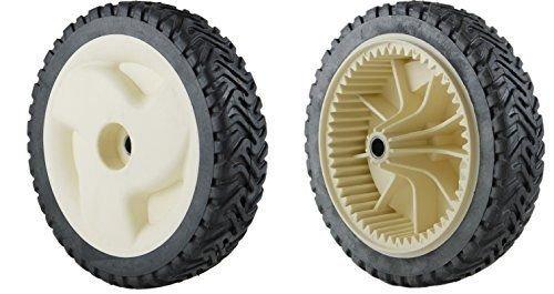 Set of 2 Wheels, Replace Toro 105-1815 Gear Drive Wheels