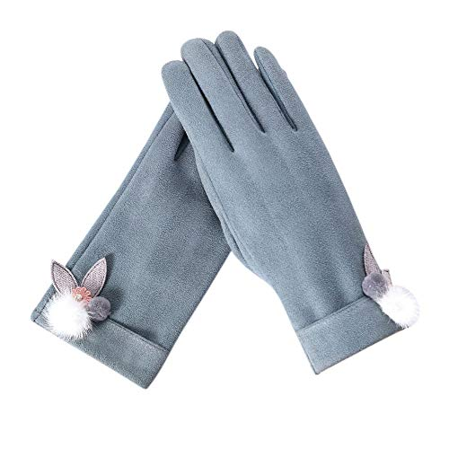 Yomiafy Winter Solid Color Full Finger Hand Gloves Outdoor Sport Warm Gloves