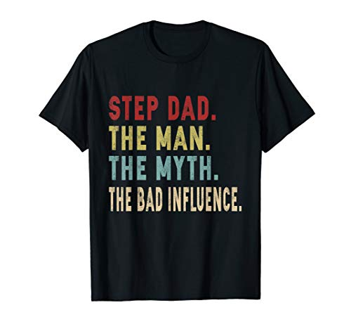 Step Dad Man Myth Legend Gift Father's Day Tee Shirt]()