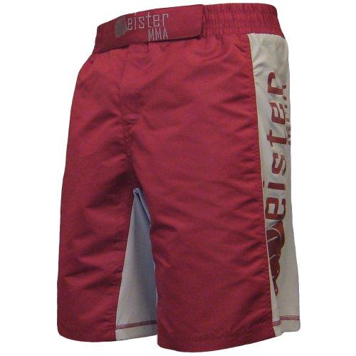 (Meister MMA Crimson Red Board Fight Shorts - 35/36)