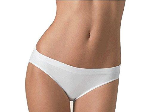 6 slip cuciture invisibile in cotone elasticizzato ROBERTA art. 89623042 (5, bianco)