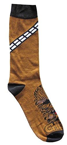 Hyp Star Wars Chewbacca Bandolier Men's Crew Socks Shoe Size 6-12]()