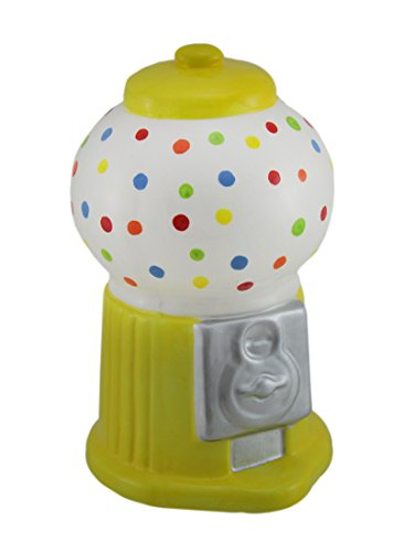 Zeckos Colorful Polka Dot Ceramic Gumball Machine Coin -