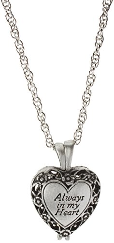 Always Heart Memorial Locket Filigree Pewter product image