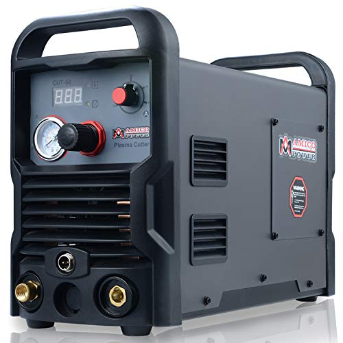 CUT-50, 50 Amp Pro. Plasma Cutter, DC Inverter 110/230V Dual Voltage Cutting Machine New from Amico
