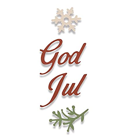 Frohe Weihnachten Schwedisch.Sizzix Thinlits Stanzen Set 4 Stuck God Jul Frohliche Weihnachten Auf Schwedisch Norwegisch Steel Multicolour 17 7 X 9 3 X 0 2 Cm