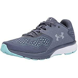 Under Armour Women's Charged Rebel, Apollo Gray/Blue Infinity/Steel, 8 B(M) US