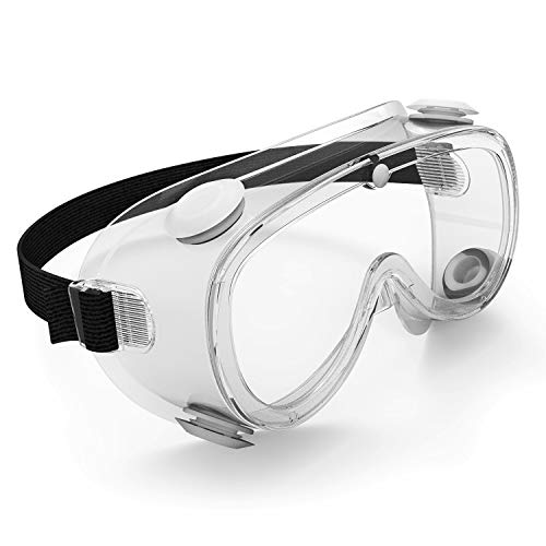 TOREGE Safety Glasses, With Anti-Fog & HD Lens Safety Goggles, Over Glasses Design ,Protect Eyes In Outdoor Activities Or Working(Soft Frame)