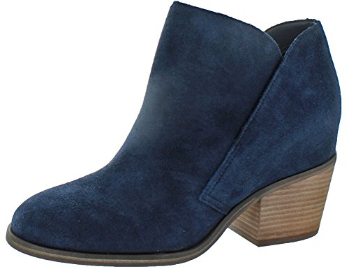 Jessica Simpson Women's Tandra Ankle Bootie, Dark Midnight, 10 M US (Dark Blue Leather Boots For Women)