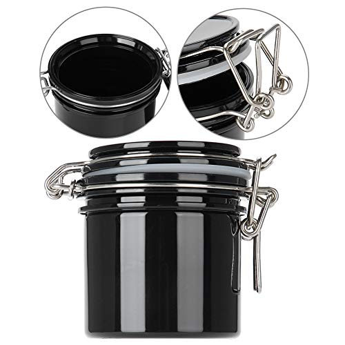 Seal Buckle (Portable Eyelash Glue Storage, Black Activated Sealed Storage Jar Container with Seal Buckle)