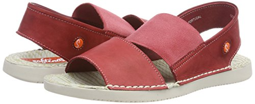 Softinos Open Women's Tai383sof Toe Sandals red 002 Red rrp7q1