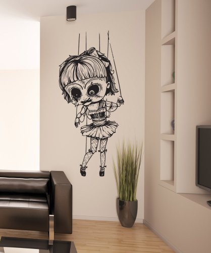 Stickerbrand Vinyl Wall Art Creepy Doll Wall Decal Sticker - Multiple Colors Available, 42
