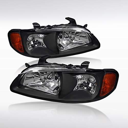 Headlights Diamond Black - Autozensation Nissan Sentra XE SE Sedan 4DR Diamond Black Headlights Pair