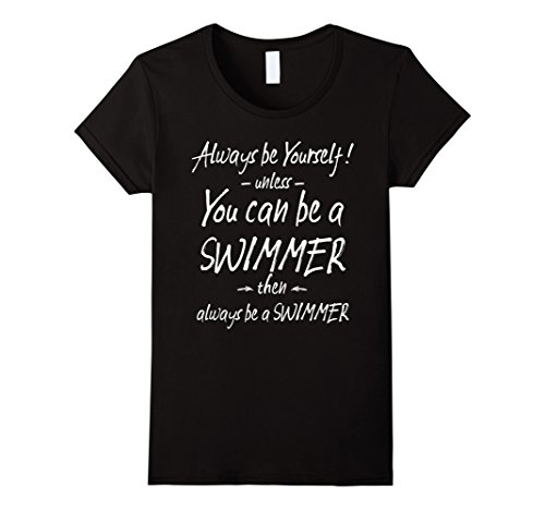 Women's Funny Swim Shirts for Swimming and Swimmers Tees Large Black