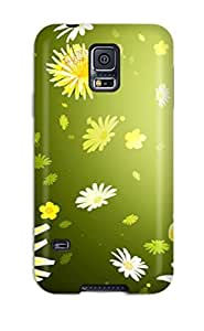 For Galaxy S5 Tpu Phone Case Cover(flower)