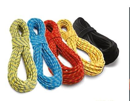 Cuerda de escalada tendon dinámica residual en diferentes longitudes de piezas