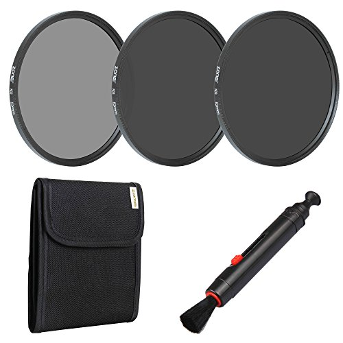 ns Neutral Density Filter Set Include ND2 ND4 ND8 + Lens Pen + Filter Pouch ()