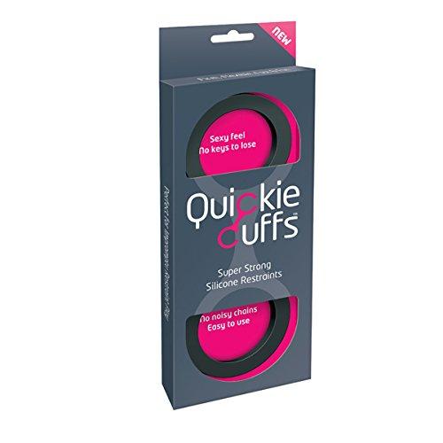 Quickie Cuffs Super stabile Silikon Handschellen, Größe: Medium (Innendurchmesser: 5,3cm), schwarz