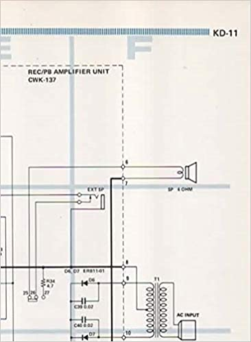 schematic wiring circuit diagram for pioneer centrex kd-11 portable audio  cassette tape deck player recorder: pioneer electronic corp, not stated,  centrex: amazon.com: books  amazon.com
