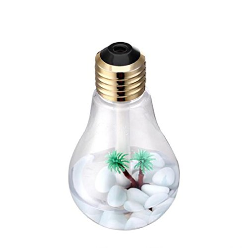 Motop Creativa lmpara LED de humidificador aire difusor atomizador (gold)