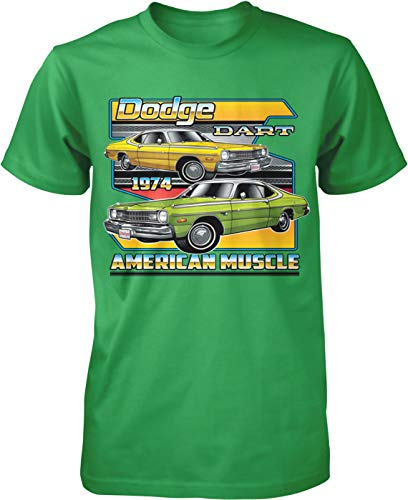 Hoodteez 1974 Dodge Dart, American Muscle Men's T-Shirt, S Kelly