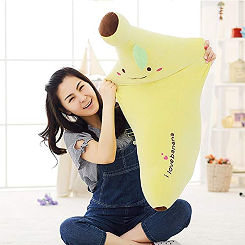 Stuffed & Plush Animals - 40-80cm Creative Soft Banana Plush Pillow Staffed Emoji Banana Cushion Boyfriend Pillow for Girls Valentine's Gift Plush Toy - Pillows Toys Cat Kids Doll -