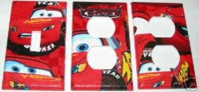 Disney Cars Outlet Switch Cover Set Sewing Fine Things and More