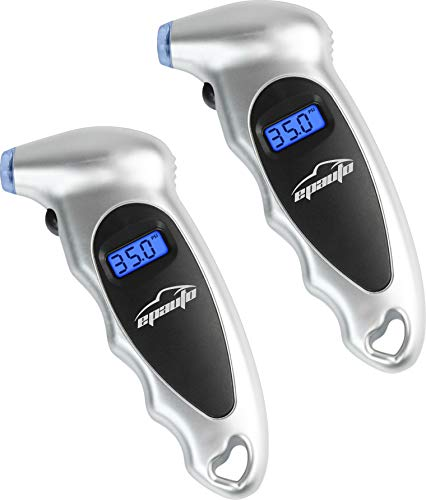 EPAUTO 2 Pack Digital Tire Pressure Gauge, 150 PSI