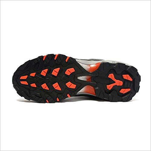 Chaussures de randonnée pour hommes Chaussures de course en cuir Automne et hiver Antidérapant Imperméable Respirant Chaussures de sport Bleu, noir, gris , gray , 41