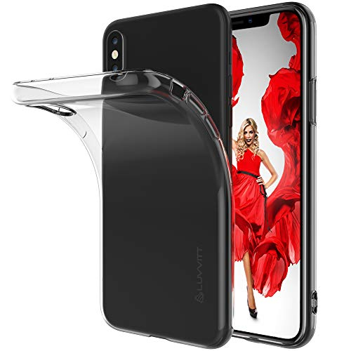 iPhone Xs Max Case, Luvvitt Clarity Light and Slim Back Cover Flexible Soft TPU Silicone Gel Rubber Protection for Apple iPhone Xs Max with 6.5 inch Screen 2018 - Clear