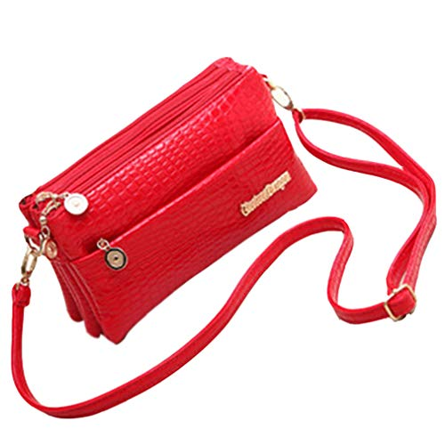 (ANANXILA Small Shoulder Bag Messenger Bags For Women Handbag New Clutch red )