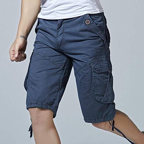 Hommes Fashion Unie La Mens Nouveau Dunkelblau Casual Es Fête Pantalon Shorts Plage Pockets Mode Court De Lannister Couleur À Travail Vêtements 0xdT1w0