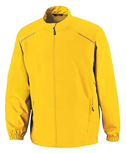 Core 365  Men's Motivate Unlined Lightweight Jacket L CAMPUS GOLD (Gold Coast Jacket)
