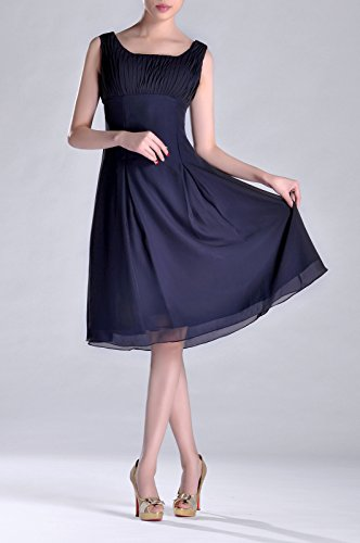 Mother Bridesmaid Occasion the White of Knee Formal Special Brides Dress Length Pleated wqXfOqr