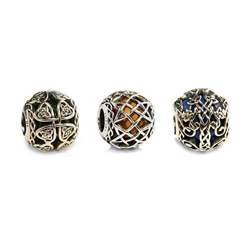 008d48c6b Set of 3 Murano Glass & Sterling Silver Irish Celtic Charm Beads S925, Irish  Celtic Eternal Knot Silver Charms Beads Jewellery Set, Irish Celtic pendants  ...