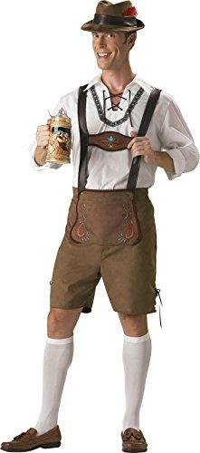 Bavarian Guy Plus Costumes (GTH Men's German Beer Bavarian Guy Lederhosen Oktoberfest Costume, Large (42-44))