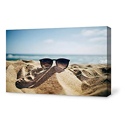 Sunglasses on Beach Painting Wall for Bedroom Living Room 12x18